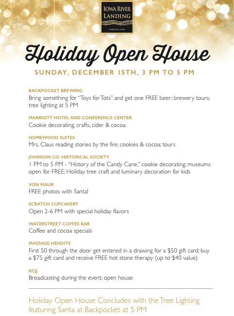 Iowa River Landing Holiday Open House