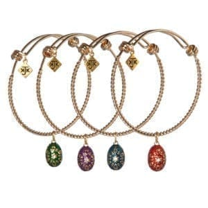 Custom Egg Charm Bangle by KJK Jewelry